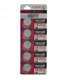 CR2025 maxell Lithium 3Volt (5er Pack)