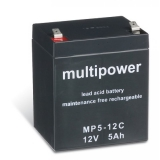 Multipower MP5-12C (12Volt 5Ah)