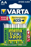 Varta Rechargeable Accu AA 2100 mAh (4er Blister)