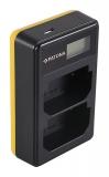 Ladegerät Dual LCD USB für Sony NP-FZ100
