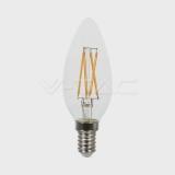LED Filament Kerze E14 4Watt klar
