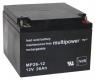 Multipower Blei-Akku MP26-12 (12V 26Ah) VdS M5