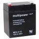 Multipower MP4,5-12 12V 4,5Ah Blei Akku