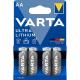 Varta AA Mignon (6106) Lithium 4er-Pack