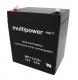 Multipower Blei-Akku MP1223H (12V 5Ah) AGM VRLA  hochstrom