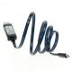USB Datenkabel mit LED Lauflicht - Daten- und Ladekabel USB auf microUSB mit LED (blau)