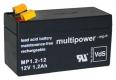 Multipower Blei-Akku 12Volt 1,2Ah