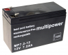 Multipower Blei-Akku MP7,2-12 (12V 7,2Ah) AGM VRLA 4,8mm