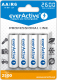 everActive AA Ni-MH 2600mAh ready to use 4er Pack