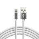 Kabel USB - lightning Silikon 1m 2,4A weiß CBS-1IW